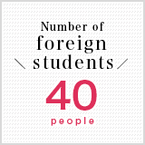 Number of foreign students